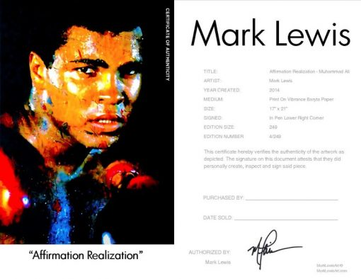 Muhammad Ali Print - Affirmation Realized