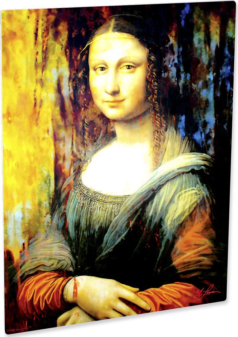 Beautiful Mona Lisa art print painting wall decor   Mark Lewis Art