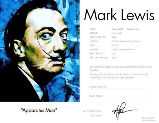 """Salvador Dali """"Apparatus Man"""" by Mark Lewis"""