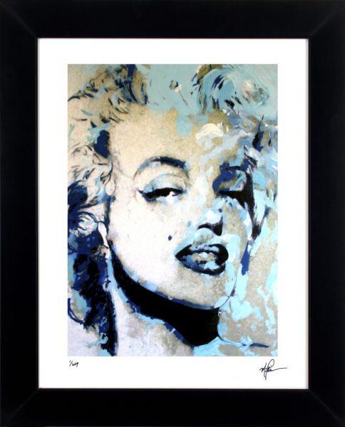 "Marilyn Monroe ""Blue Marilyn"" by Mark Lewis"