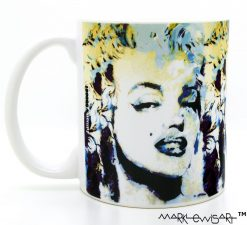 "Marilyn Monroe Mug ""Blue Marilyn"" by Mark Lewis"