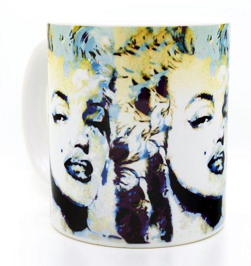"""Marilyn Monroe Mug """"Blue Marilyn"""" by Mark Lewis"""