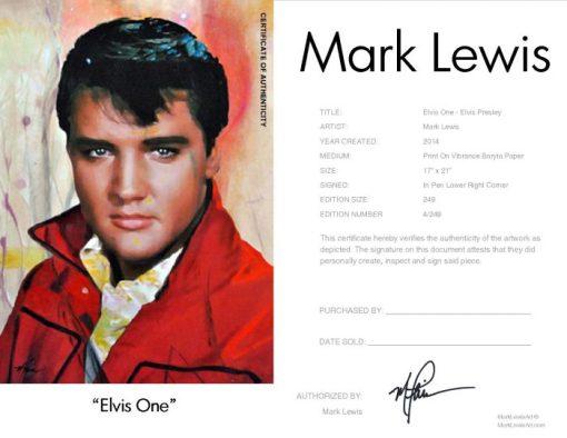 Elvis Presley Print - Elvis One