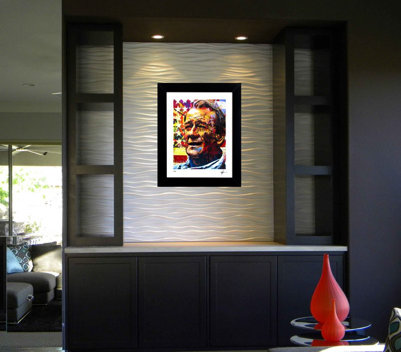 Wall Decoration John Lewis : Patriotic john wayne art print framed painting wall decor