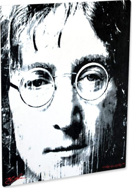 "John Lennon ""BW"" by Mark Lewis"