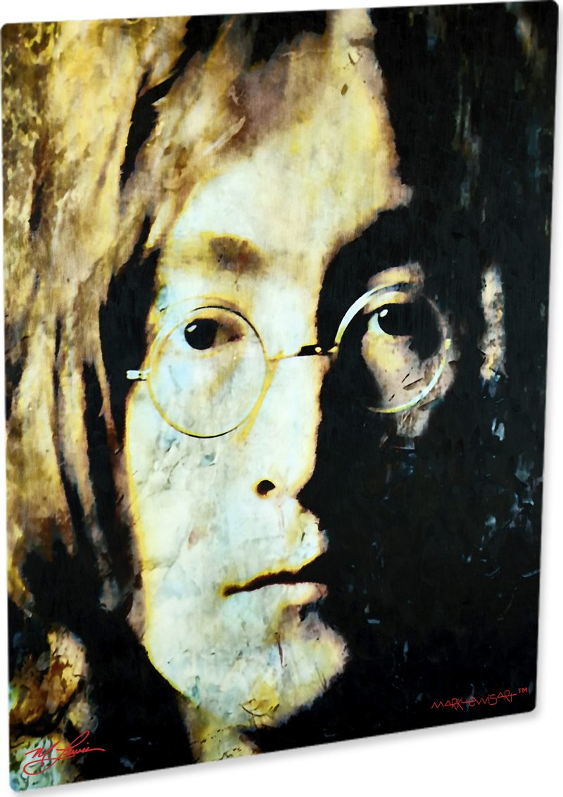 John lennon art print painting earthy wall decor