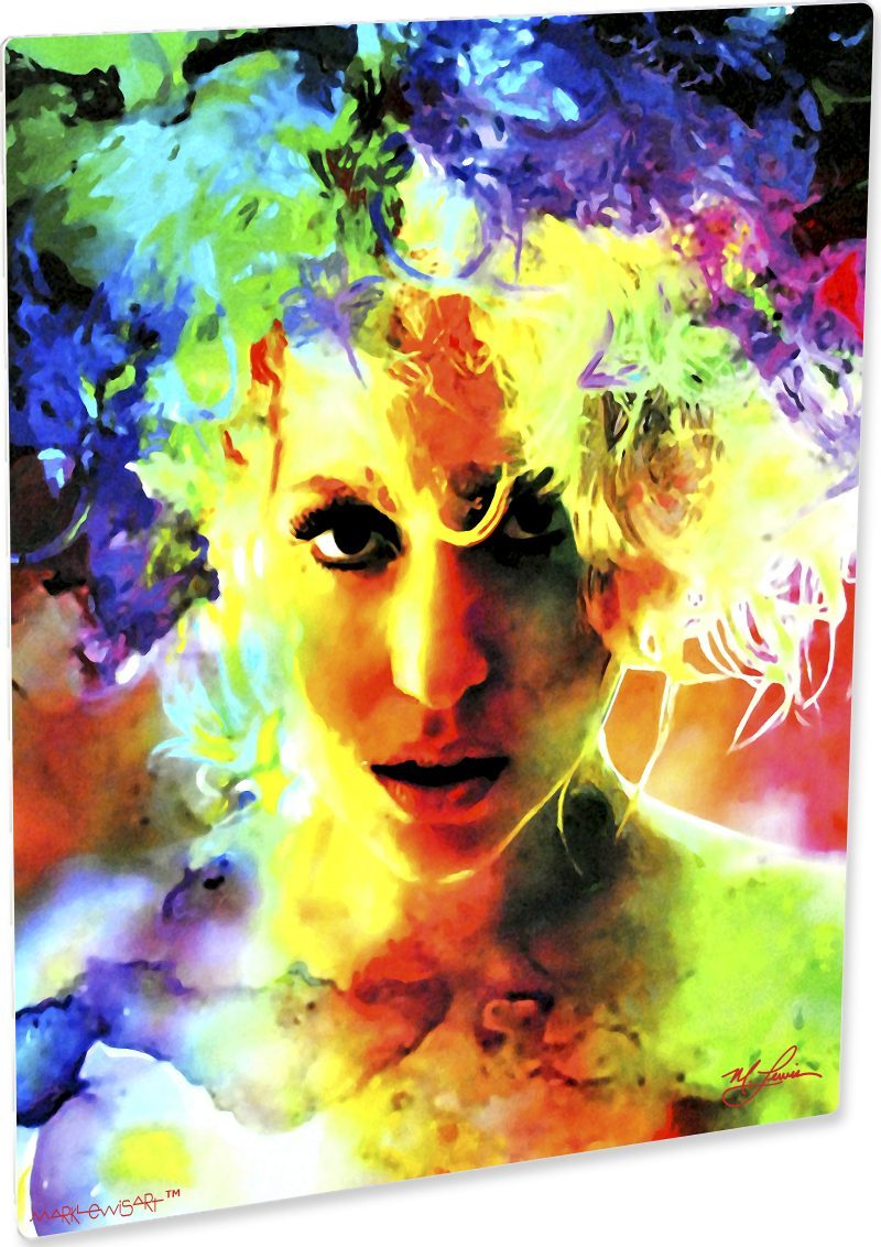 Lady Gaga art print painting Lovely wall decor | Mark Lewis Art