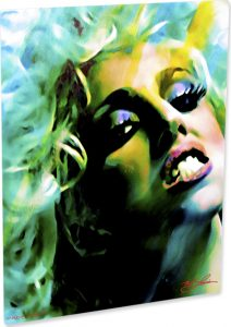 "Lady Gaga ""Mascara Darkness"" by Mark Lewis"