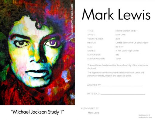 "Michael Jackson ""Michael Jackson Study One"" by Mark Lewis"