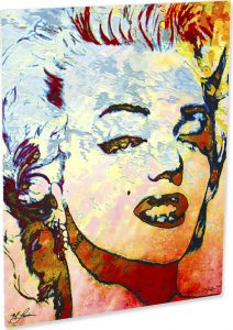 "Marilyn Monroe ""Red Marilyn metal art print front"