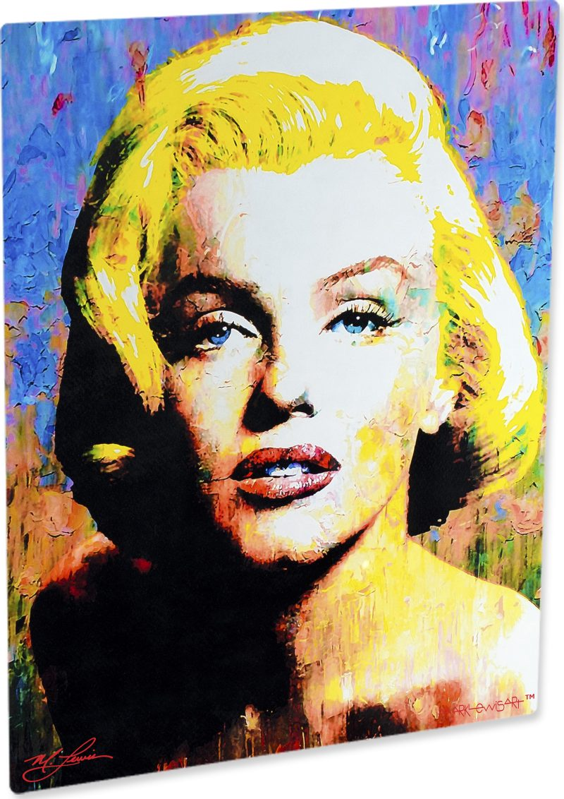 Intricate Marilyn Monroe art print painting wall decor | Mark Lewis Art