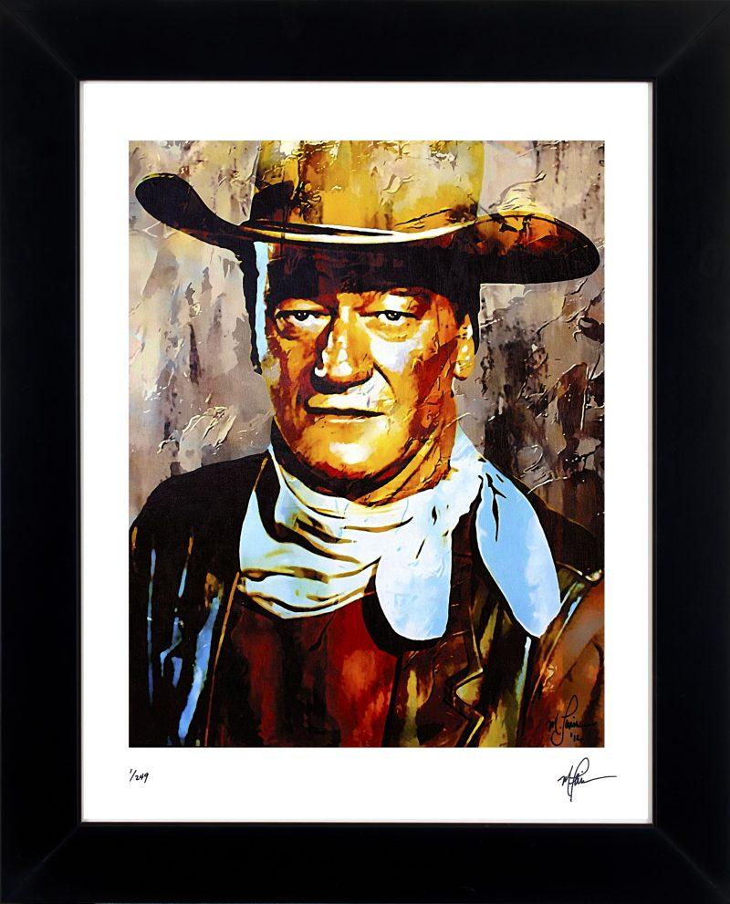 John Wayne Art Print Framed Painting Captivating Wall