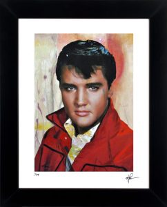 Elvis Presley Print - Elvis One by Mark Lewis