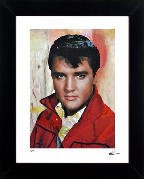 Elvis Presley Print - Elvis One by Mark Lewis