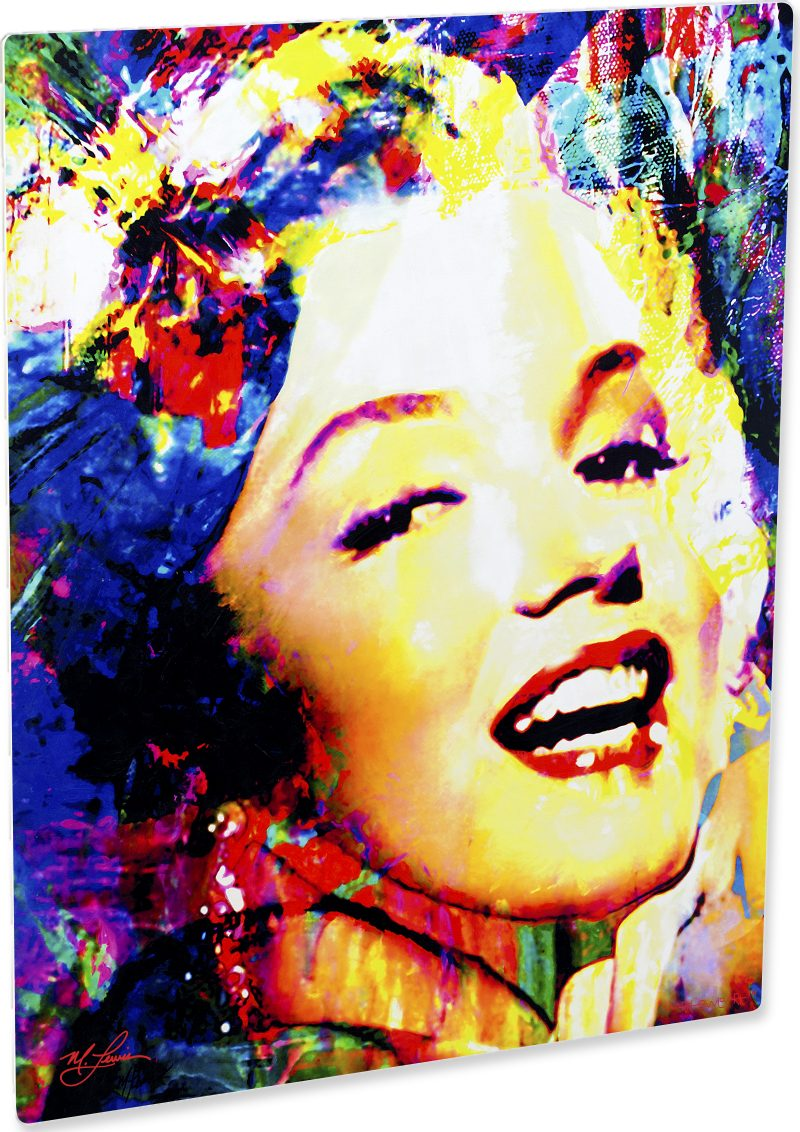 Playful Marilyn Monroe art print painting wall decor | Mark Lewis Art
