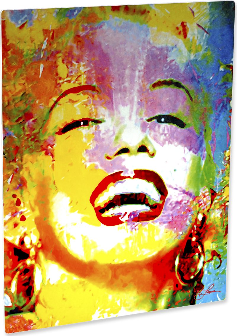 Marilyn Monroe artwork abstract modern paintings signed print - 8\