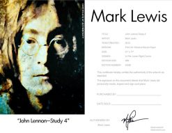 John Lennon Study 4 Certificate