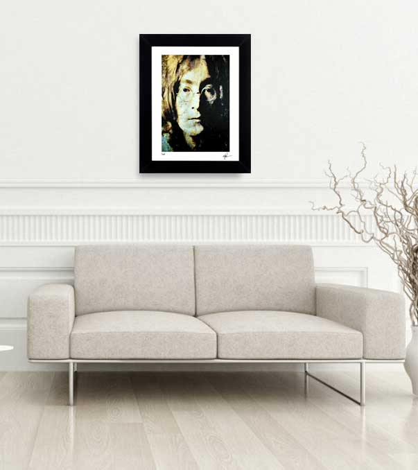 Wall Decor John Lewis : John lennon art print framed devine painting wall decor