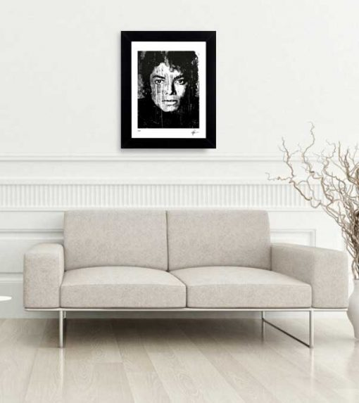"Michael Jackson art print ""Black And White"" lep home"