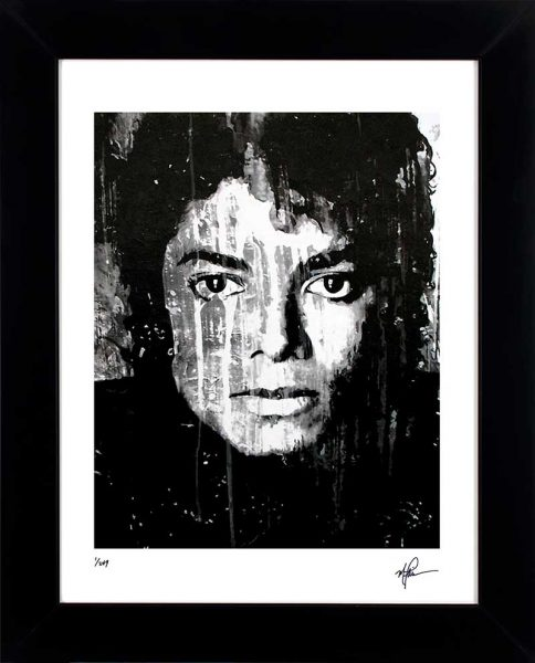 "Michael Jackson art print ""Black And White"" lep front"