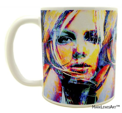 "Britney Spears ""Snow Blind 1"" mug"