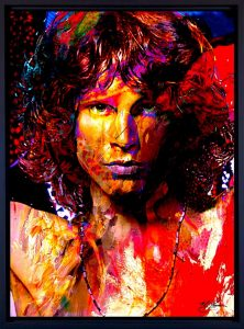 Jim Morrison Canvas Art Print - woms