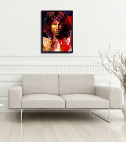 Jim Morrison Canvas Art Print - woms - home