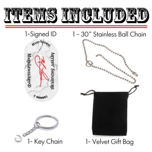 Pendant Dog Tag Items Included